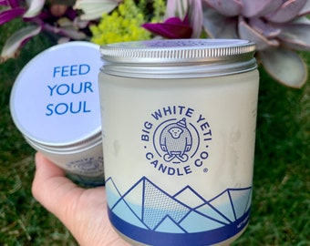 Feed Your Soul - Cause Candle - 8oz frosted glass jar