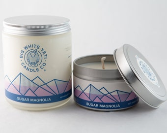 Sugar Magnolia Soy Candle- 6 Ounce Tin