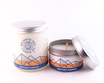 Another Pumpkin Soy Candle - 6oz tin or 8oz frosted glass jar