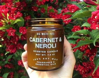 Cabernet + Neroli Soy Candle- 9oz Amber Jar