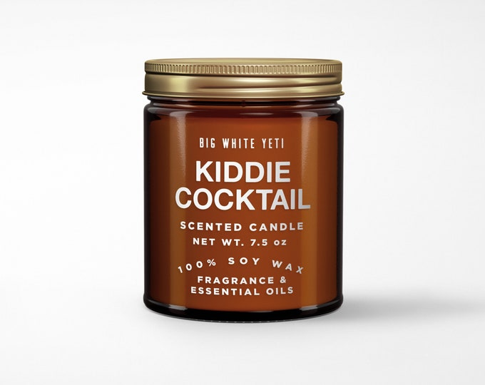 Kiddie Cocktail Soy Candle- 8oz Amber Jar