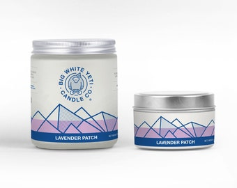Lavender Patch Soy Candle - 6oz tin or 8oz frosted glass jar