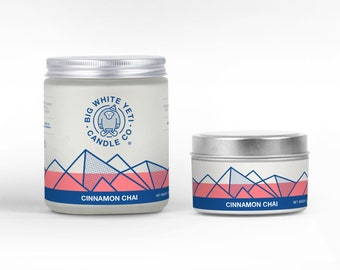 Cinnamon Chai Soy Candle - 6oz tin or 8oz frosted glass jar