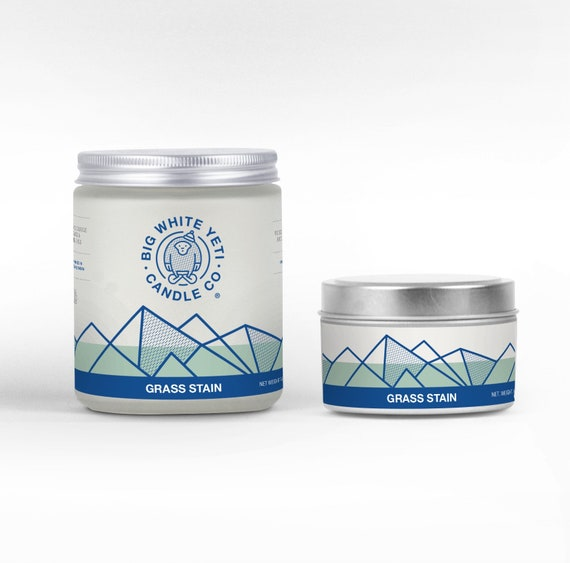 Grass Stain Soy Candle - 6oz tin or 8oz frosted glass jar