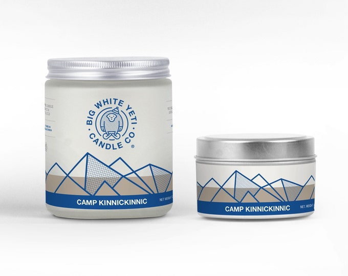 Camp Kinnickinnic Soy Candle - 6oz tin or 8oz frosted glass jar