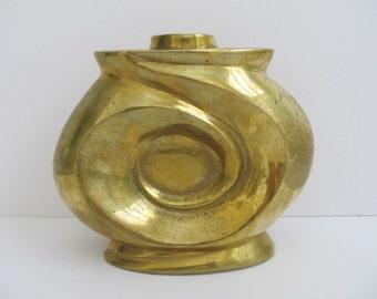Brass Vase, Brass Candle Holder, Vintage Vase, Vintage Candle Holder, Candle Holders, Brass Candle Holders, Brass Decor, Candles, Brass