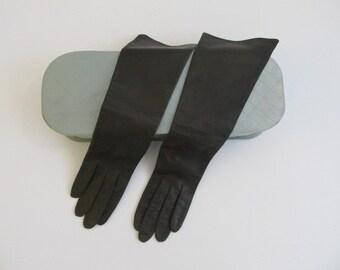 Vintage Gloves, Real Kid Gloves, Real Kid, Made in France, Opera Gloves, Gloves, Women's Gloves