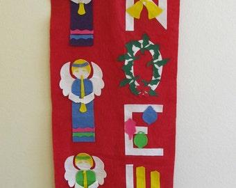 Christmas, Christmas Banners, Christmas Decor, Noel, Holidays, Holiday Banners, Vintage Christmas, Ornaments, Christmas Ornaments, Bells