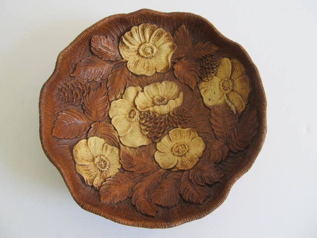 40 Multi Products Inc Decorative Bowls Decorative Platters Faux Wood Bowls Rose Bowls Faux Wood Rose Bowl Cabin Decor Cottage Decor Gorgeous Decorative Platters And Bowls