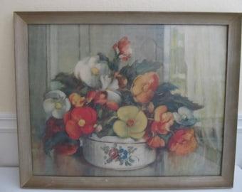 Art, Prints, Framed Art, Framed Prints, Floral Art, Florals, Vintage Art, Vintage Prints, Bouquets, Home Decor, Vintage Decor, Vintage