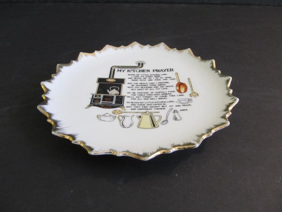 My Kitchen Prayer Plate, Decorative Plates, My Kitchen Prayer, Prayer  Plates, Collector Plates, Kitchen Decor, Cabin Decor, Cabin, Camper