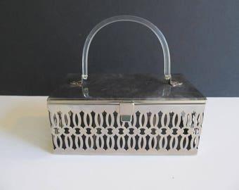 Pamart Box Purse, Pamart, Box Purses, Vintage Box Purses, Metal Purses, Vintage Metal Purses, Handbags, Vintage Purses, Vintage Handbags