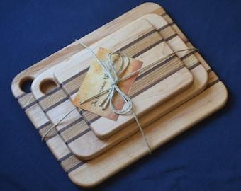 Wood Cutting Board Set