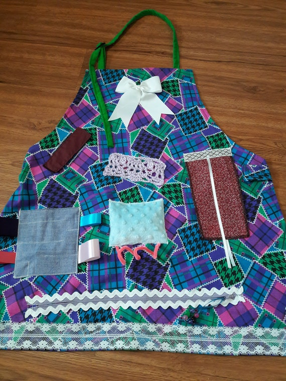 Fidget Apron For Alzheimer Or Dementia Patients Gift