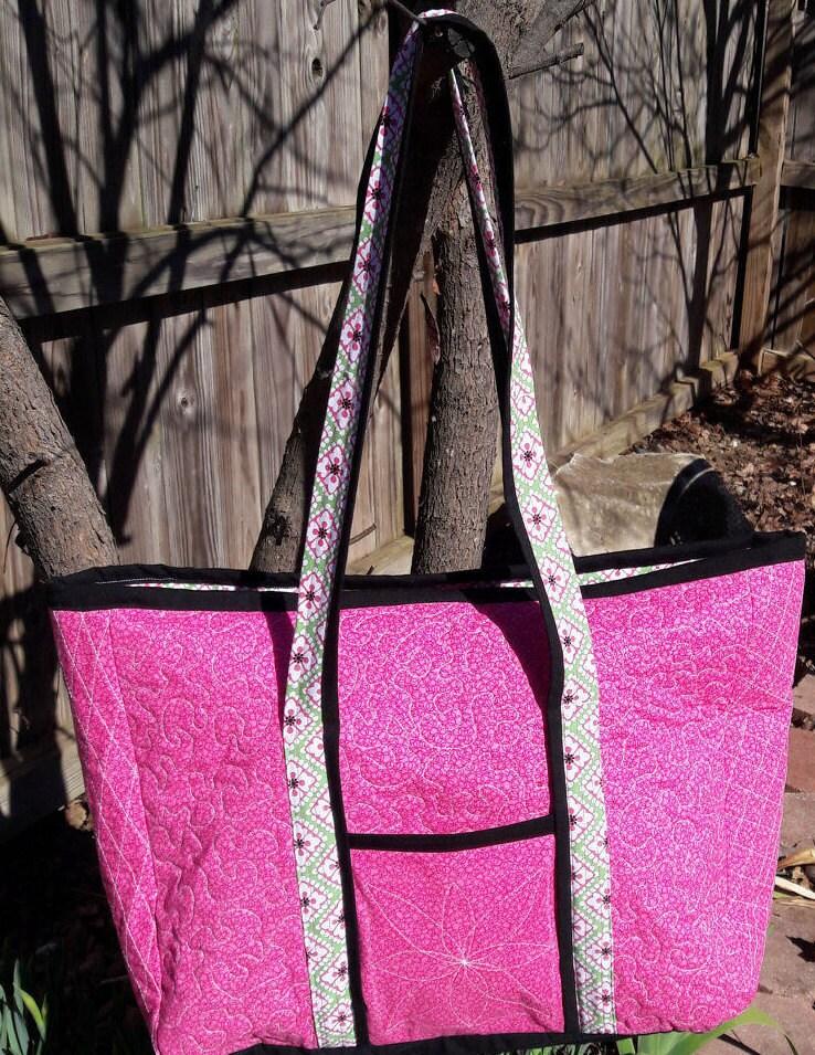 a4b051936077df Tote Bag Quilted Cotton tote bag Weekender bag Shoulder | Etsy