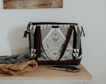 8300579422 Geometric Diaper Bag in Pendleton Wool Fabric