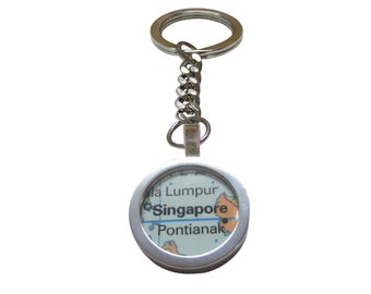 Singapore Map Pendant Key Chain 5dd66abc5f33