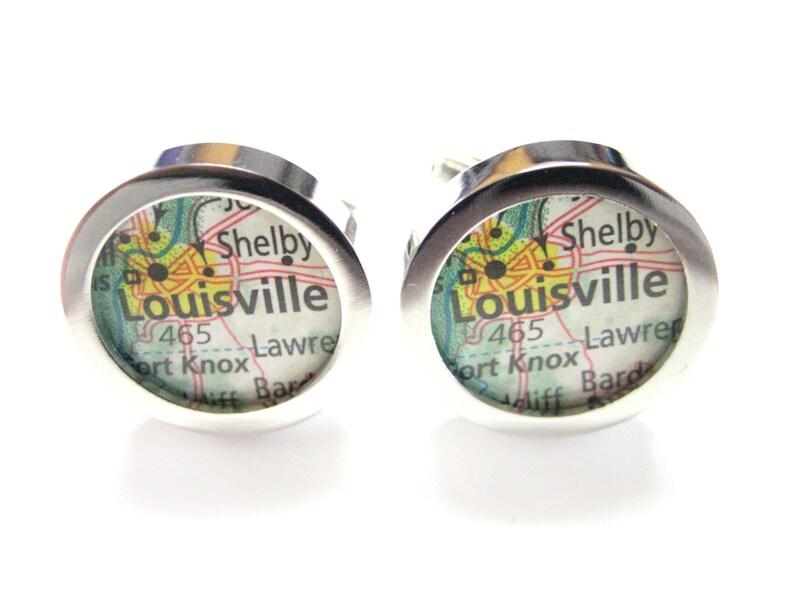 Louisville Kentucky Map Cufflinks