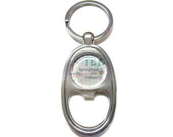 Springfield Illinois Bottle Opener Key Chain