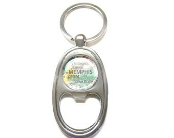 Memphis Tennessee Bottle Opener Key Chain