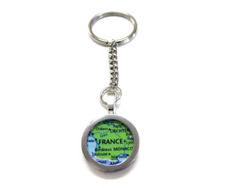 France Map Keychain