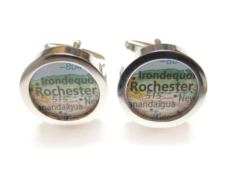 Rochester New York Map Cufflinks