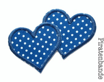 2 Heart Patch Dots application accessory for ironing