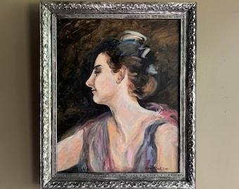 Original Painting, Framed Painting, Artist Original Signed, Beautiful Woman