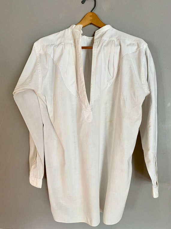 Antique Edwardian White Shirt, Long Sleeves, Antiq