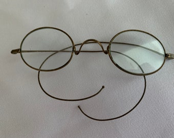 Vintage Spectacles, Antique Reading Glasses, Wire Rimmed Spectacles