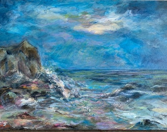 Seascape, Original Painting, Signed by Artist, One of a Kind