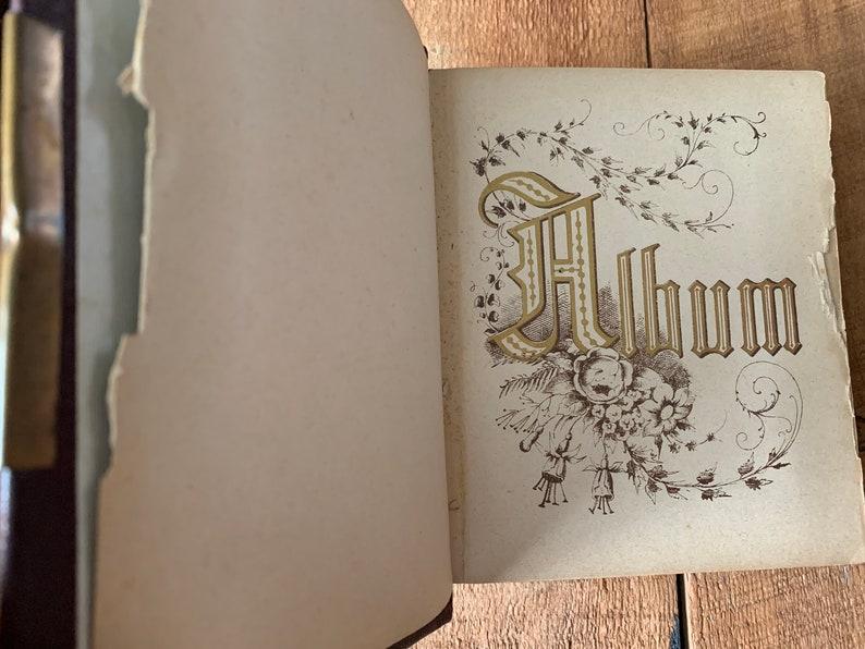 Antique Photo Album Photo Album Vintage American Civil War Era Collectible Old Photos Tin Types