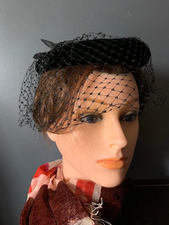 Vintage Fascinator Hat, Vintage Hat, 60s Hat with