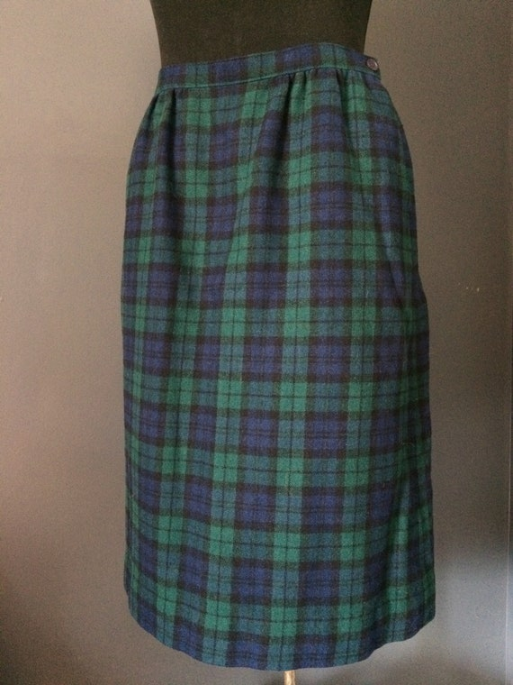 Vintage Pendleton Tartan Skirt, Wool Plaid, Pendle
