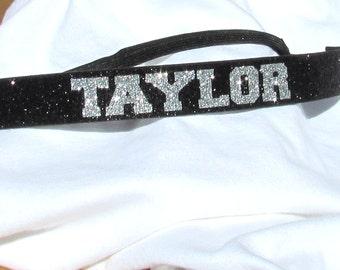 Glitter Sport Adjustable Headband with Non-Slip Velvet Backing for Cheer, Softball, Volleyball, Soccer or Dance - 10 Colors