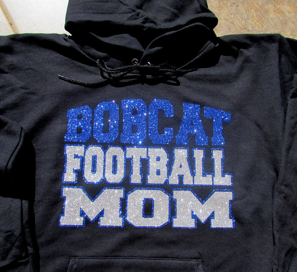Bobcats Custom Personalized Name /& Number Adult Jersey Hooded Sweatshirt
