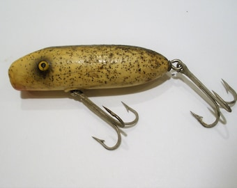 Came in Many Sizes  First Issued 1933  Wood Lure  All Original  Very Collectible Vintage Flatfish Lure  by Helin Tackle Co