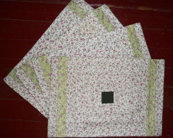 Set of 4 Handmade Amish Placemats