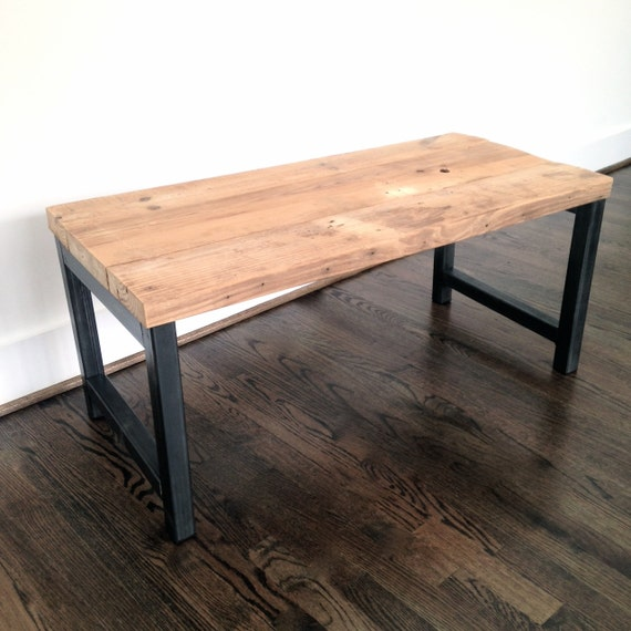 Hudson Coffee Table: The HUDSON Coffee Table Reclaimed Wood & Steel Coffee