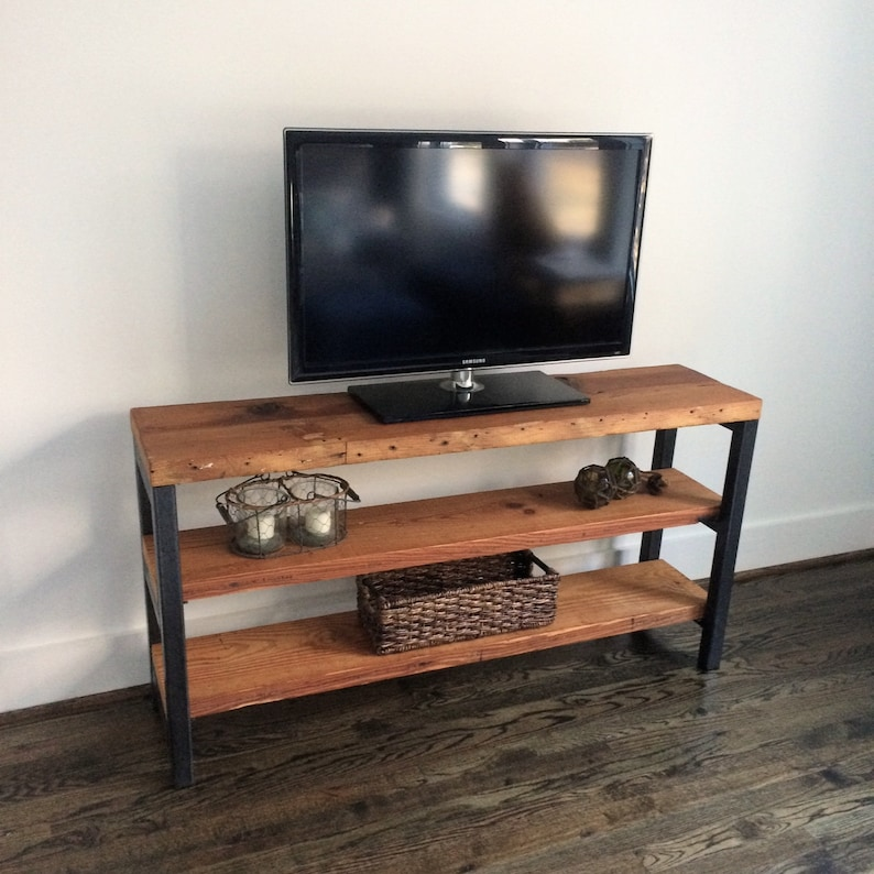 The BRADBURY Media Unit/Shelving Unit - Reclaimed Wood & Steel - Multiple  Sizes Available