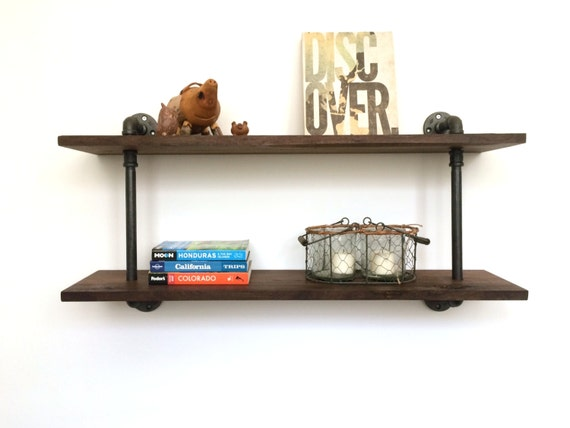 Stafford Reclaimed Wood Wall Shelf Pipe