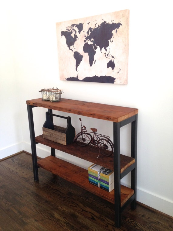 The MADISON Bookshelf Reclaimed Wood Steel Multiple