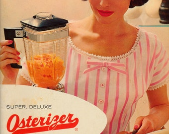 Vintage Cookbook 1960s - Super, Deluxe Osterizer Recipes