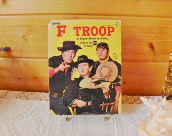 Saalfield F Troop A Story Book To Color ABC TV Series Coloring