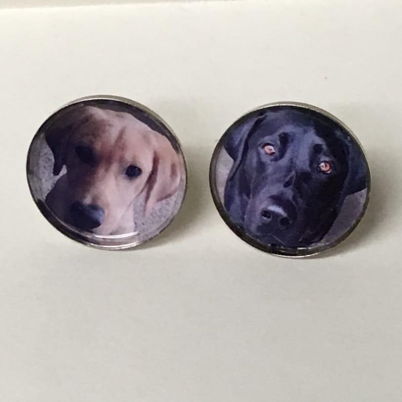 Any photo you want turned into cufflinks by Cufflinked Family etc Cat Custom Photo Cufflinks FREE Gift Bag Dog