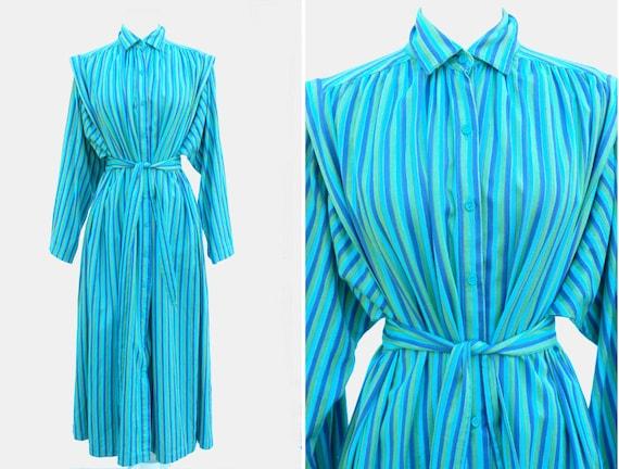 ADINI Vintage kaftan maxi dress striped India cott