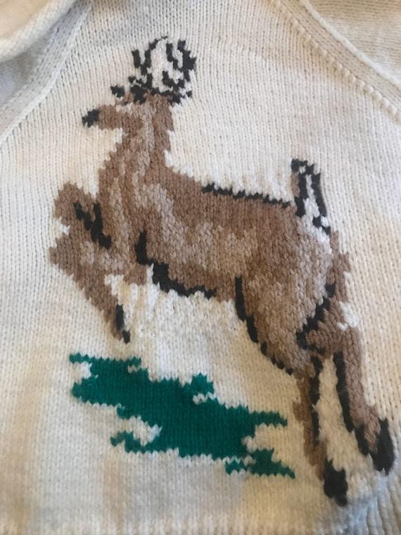 Cowichan Deer Cardigan Sweater