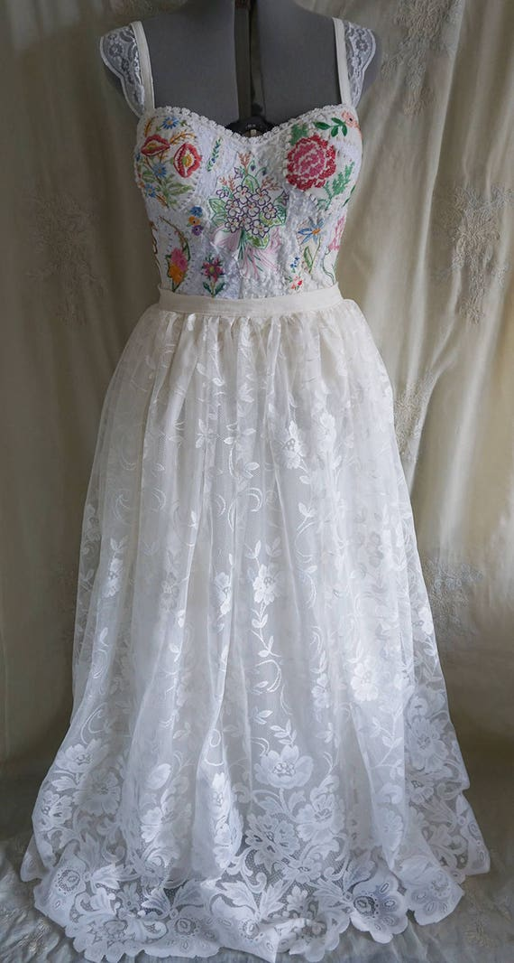 SALE Meadow Bridal Bustier Top... wedding gown dress | Etsy