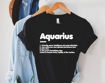 Youth Sizes Zodiac Superpowers Shirt For Aquarius Kids