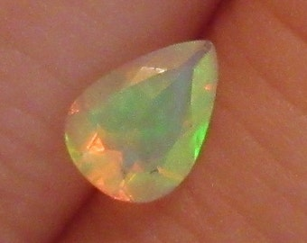 Neon Teardrop Opal 5x7mm Natural Gemstone Bright Flash with Video